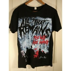 Tops - All That Remains band tee t-shirt heavy metal